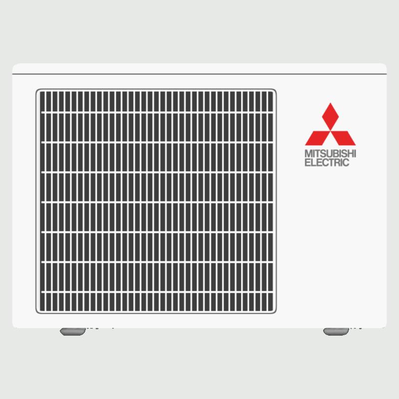 Mitsubishi single-zone cooling outdoor unit.